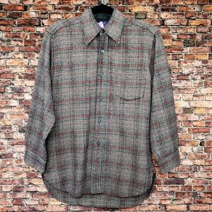 Vintage Pendleton Plaid Wool Button Down